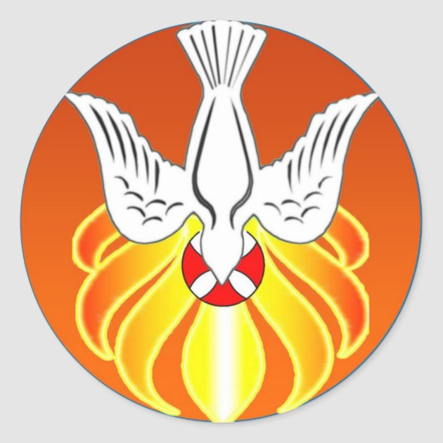 Confirmation Sticker Holy Spirit And Seven Flames Classic