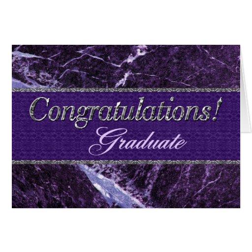 congratulation graduate purple