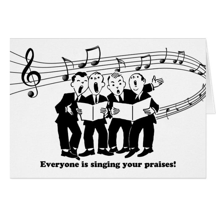 Congratulations on Graduation Singing Your Praises Card