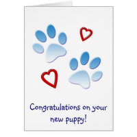 Congratulations on Your New Puppy Card