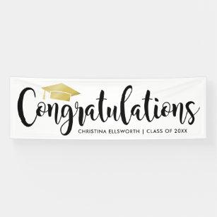 congratulations with gold grad
