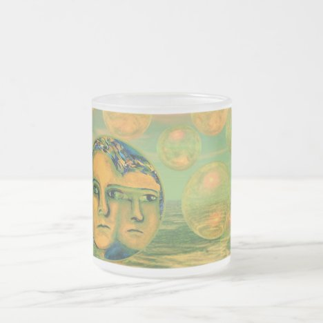 Consciousness – Gold and Green Awakening Frosted Glass Coffee Mug