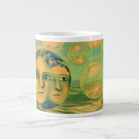 Consciousness – Gold and Green Awakening Large Coffee Mug