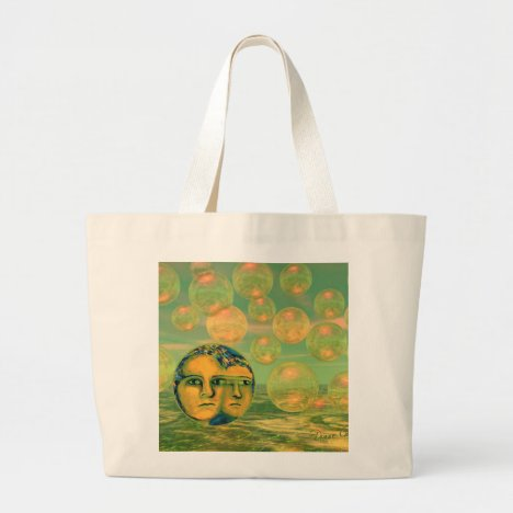 Consciousness – Gold and Green Awakening Large Tote Bag