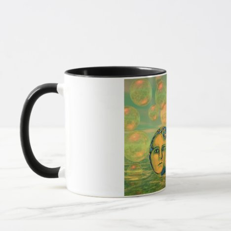 Consciousness – Gold and Green Awakening Mug