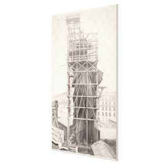 Construction of The Statue of Liberty Canvas Print