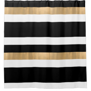 black and gold shower curtains zazzle