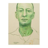 Contemporary Colored Pencil Portrait Drawing Wood Wall Art ...