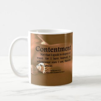 Contentment Philippians 4-11 Coffee Mugs