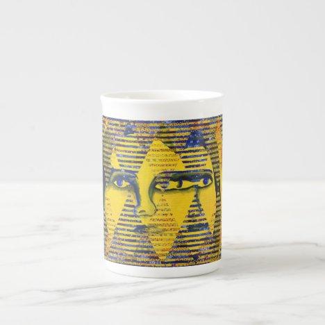 Conundrum II – Golden & Sapphire Goddess Tea Cup