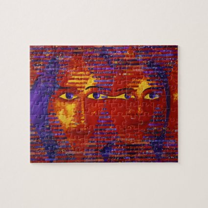 Conundrum III - Abstract Purple & Orange Goddess Puzzles