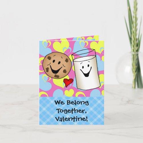 Cookies and Milk Valentine Holiday Card