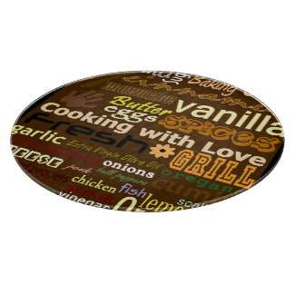 Cooking With Love - Glass Cutting Board