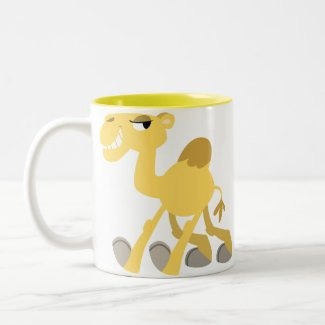 Cool and Cute Cartoon Camel Mug mug