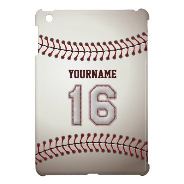 Cool Baseball Stitches - Custom Number 16 and Name Cover For The iPad Mini