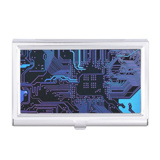 Amazoncom Circuit Board Business Card Case Blue Business Card