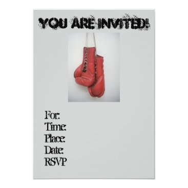 Cool Boxing Gloves Invitations (Birthday)