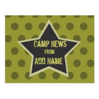 Cool Boy Customizable Camp Postcard