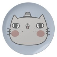 Cool Cat Dinner Plate | Zazzle