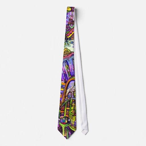 Cool Colorful Alien Tie