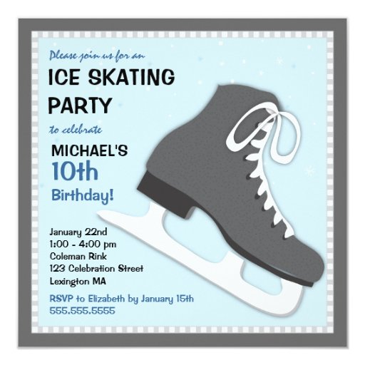 Cool Dudes Ice Skating Birthday Party Invitation Zazzle