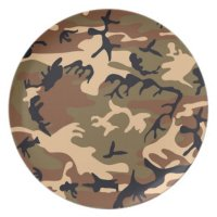 Cool Modern Camouflage Camo Design Dinner Plate | Zazzle