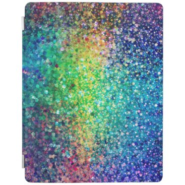 Cool Multicolor Retro Glitter & Sparkles Pattern iPad Smart Cover