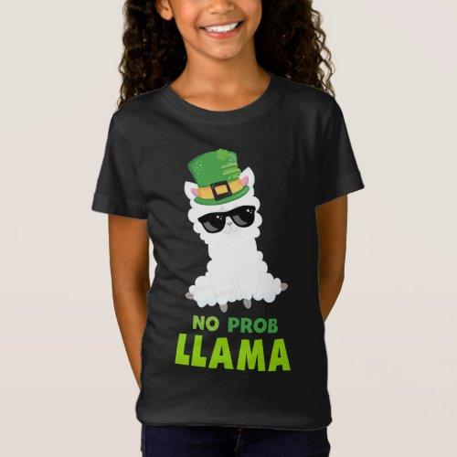 Cool St Patricks Day No Prob Llama T-Shirt