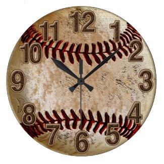 Cool Stone Look Vintage Baseball Clock for Him Wallclocks