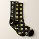 Cool Sunglasses Emoji Black Socks
