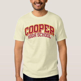 Cooper High School TShirts  Shirt Designs  Zazzle