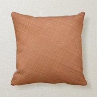 Copper Colored Throw Pillow | Zazzle