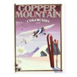 Copper Mountain colorado vintage poster Postcard