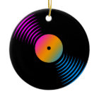 Corey Tiger 80s Retro Vinyl Record Ornament ornament