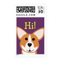 Corgi Art Greeting Postage