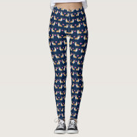 Corgi Valentines hearts - cute corgi love Leggings