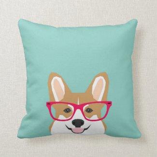 Corgi with Glasses Cushion