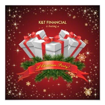 Corporate Secret Santa Christmas Dinner Party Card