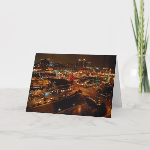 Country Club Plaza, Kansas City, Holiday Lights card