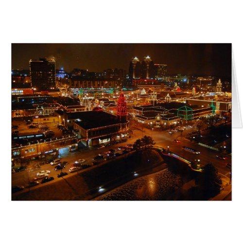 Country Club Plaza, Kansas City, Holiday Lights Greeting Card
