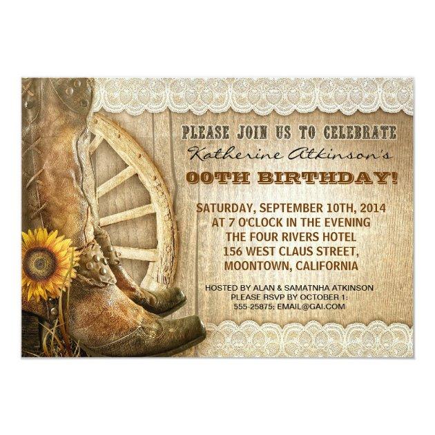 country cowboy style birthday invitations  Zazzlecom