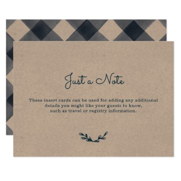 Country Gingham Insert Cards