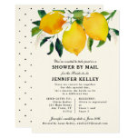 Country Lemon & Flowers Bridal SHOWER BY MAIL Invitation