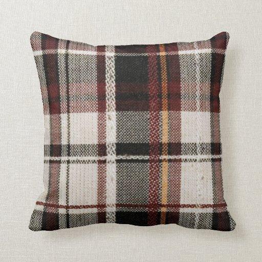 Country plaid throw pillow  Zazzle