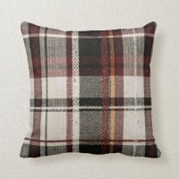 Country plaid throw pillow
