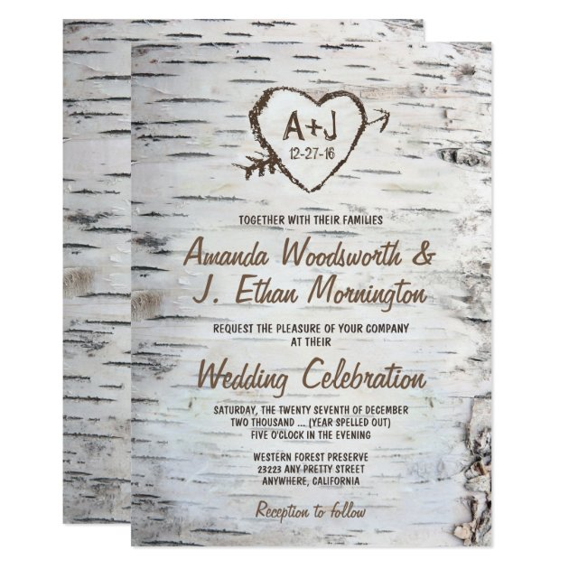 Country Wedding Announcements