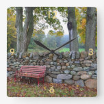 Country Stone Wall Clock
