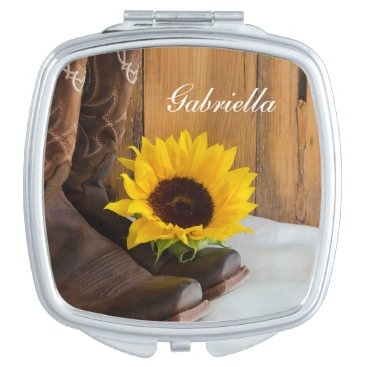Country Sunflower Western Wedding Mirror For Makeup
