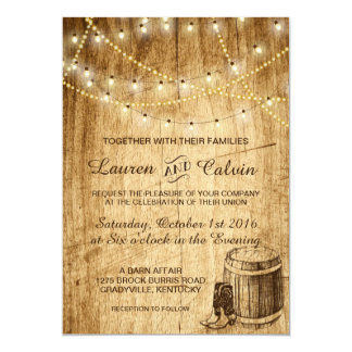 Vintage Country Wedding Invitation Suite