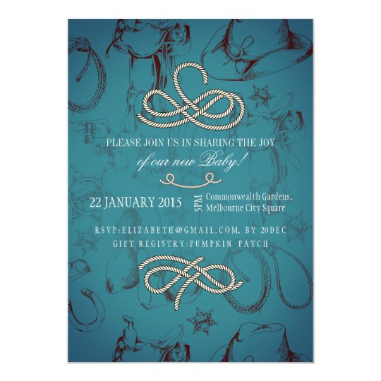 Country Western Baby Shower Invitation